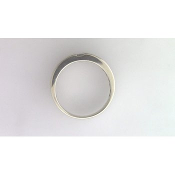 Gentlemans' 14k White Gold Diamond Ring