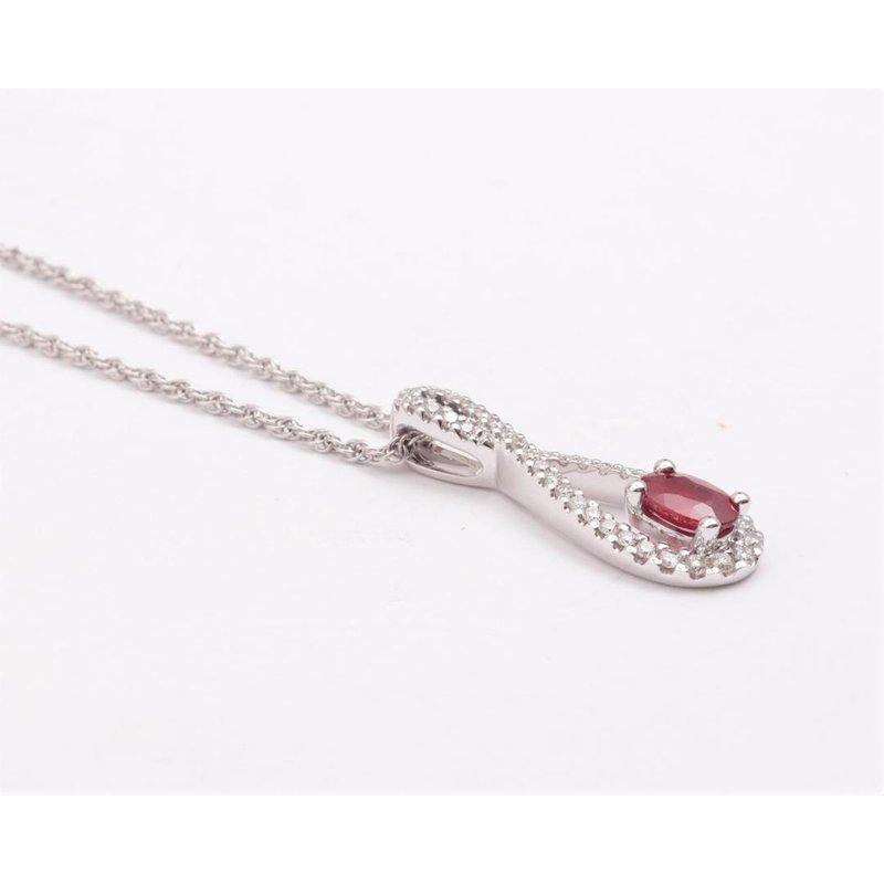 Allison-Kaufman 14k White Gold Ruby Pendant