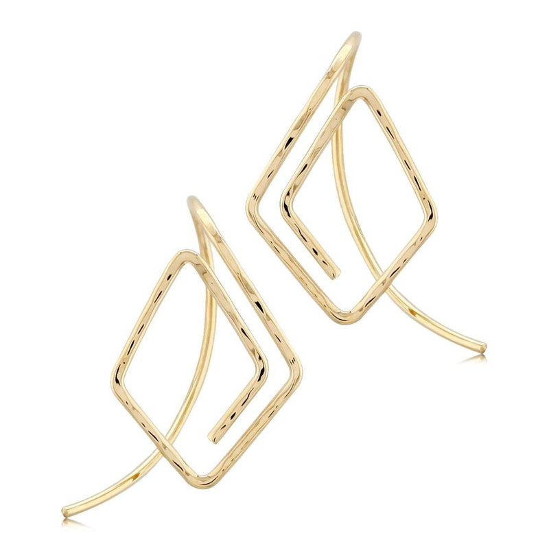 Pugh's Signature 14k Yellow Gold Earrings
