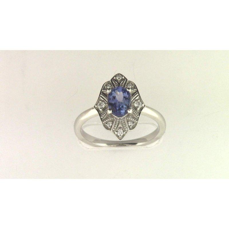 Pugh's Signature Ladies' 14k White Gold Tanzanite Ring