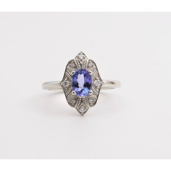 Ladies' 14k White Gold Tanzanite Ring