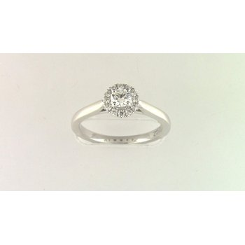14k White Gold Cz Stone Diamond Semi Mount Ring