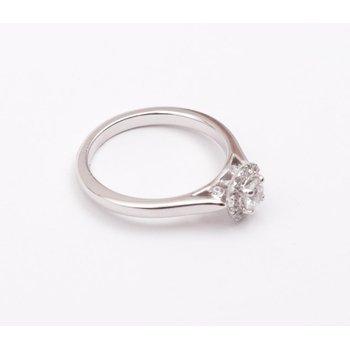 14k White Gold Cz Stone Diamond Semi Mount Ring