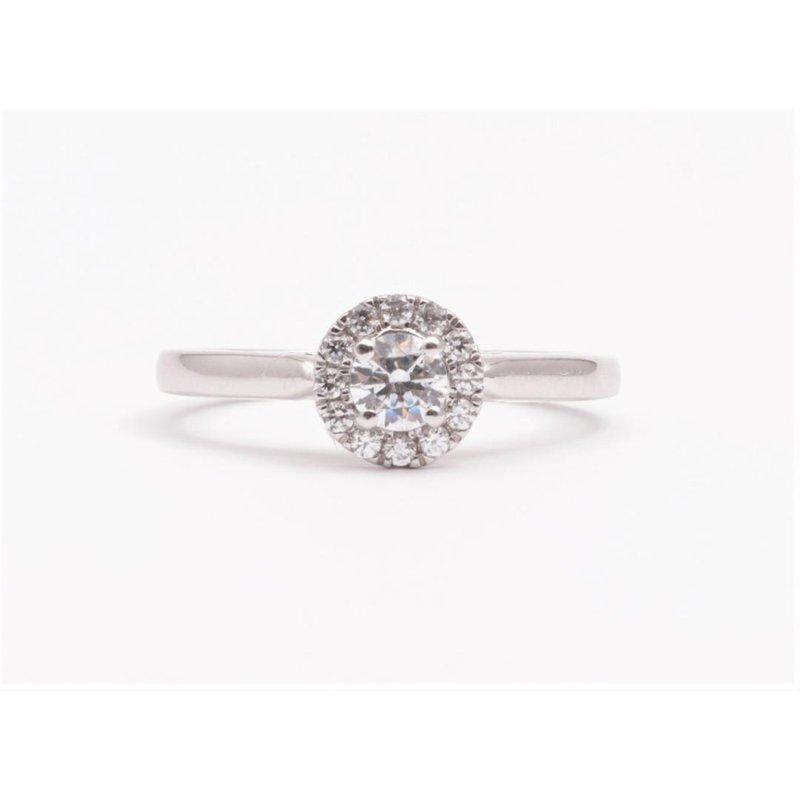 Pugh's Signature 14k White Gold Cz Stone Diamond Semi Mount Ring