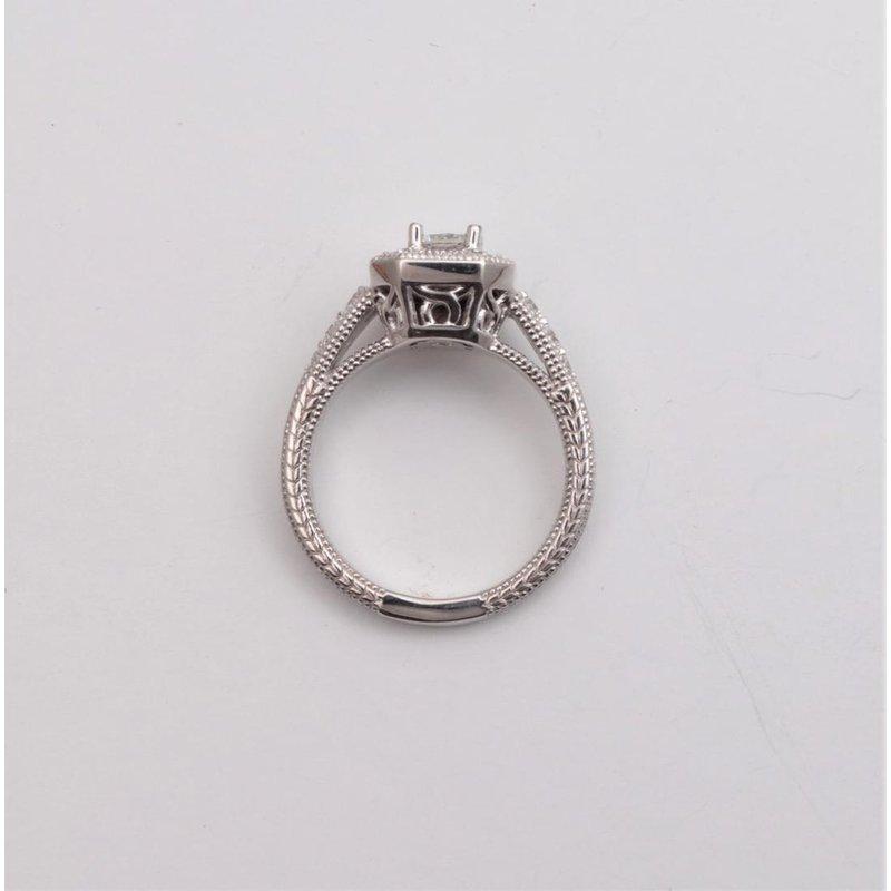 Pugh's Signature 14k White Gold Diamond Semi-mount Ring