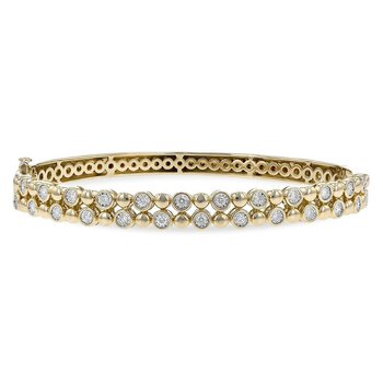 Ladies' 14k Yellow Gold Diamond Bracelet