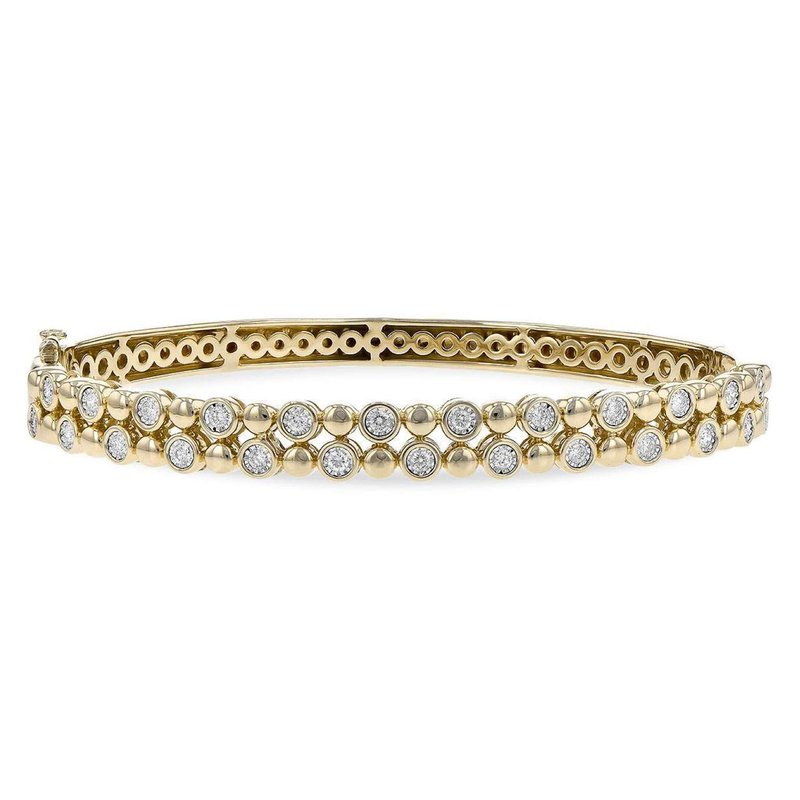 Allison-Kaufman Ladies' 14k Yellow Gold Diamond Bracelet
