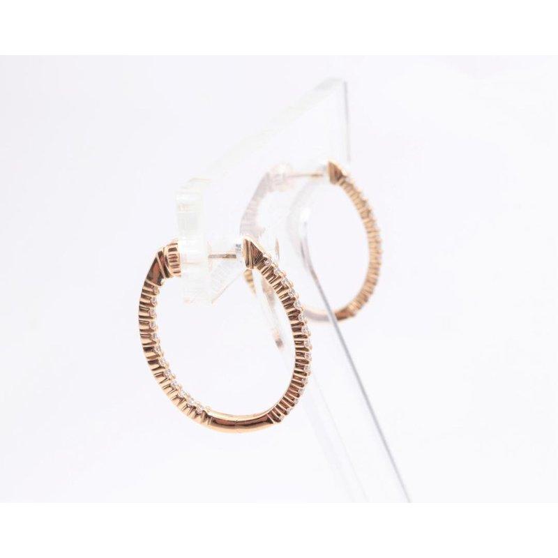 Allison-Kaufman 14k Yellow Gold Diamond Earrings