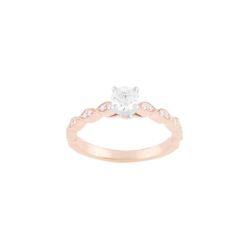 Pugh's Signature Ladies' 14k White And Rose Gold Ring