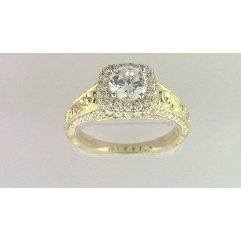 Zeghani Ladies' 6 Mm CZ Ring