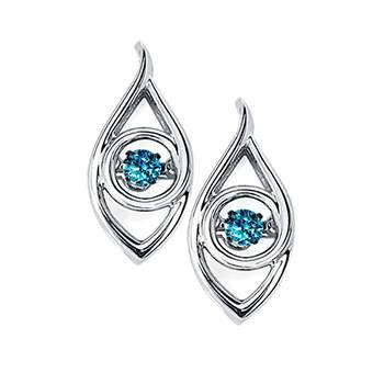 Sterling Blue Diamond Pendant