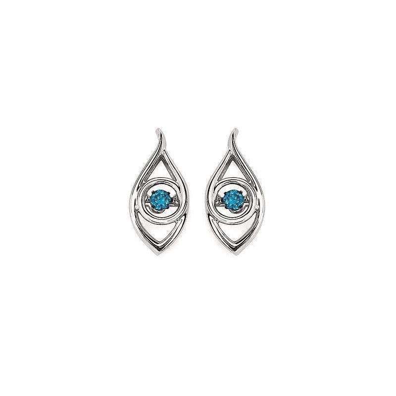 Ostbye Sterling Blue Diamond Pendant