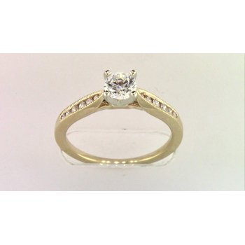 14k Yellow Gold 5 Mm CZ Ring