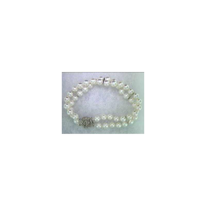 Pugh's Signature 14k White Gold Pearl Bracelet