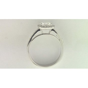 Ladies' 14k White Gold 7 Mm CZ Stone Diamond Semi Mount Ring