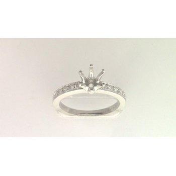 Platinum Diamond Semi Mount Ring