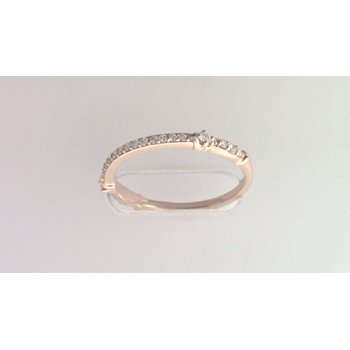 Ladies' 14k Rose Gold Diamond Ring