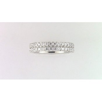 14k White Gold Diamond Diamond Band
