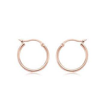 14k Rose Gold Earring