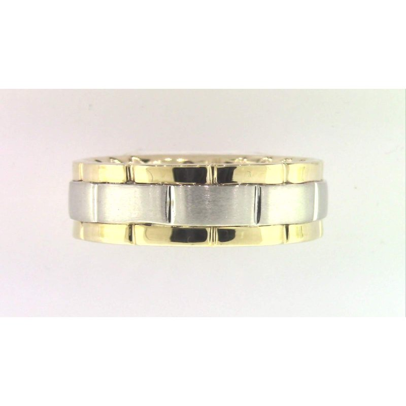 Pugh's Signature Gentlemans' 10k White And Yellow Gold Ring