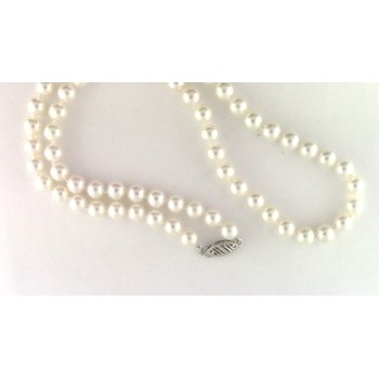 14k White Gold Cultured Pearl Pearl Strand