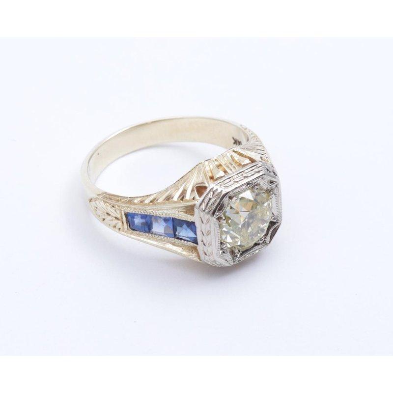 Pugh's Signature 14k White And Yellow Gold Diamond Ring