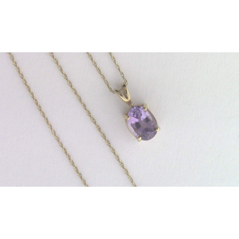 Pugh's Signature 14k Yellow Gold Amethyst Necklace