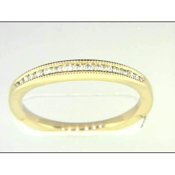 Ladies' 14k Yellow Gold Diamond Wedding Ring