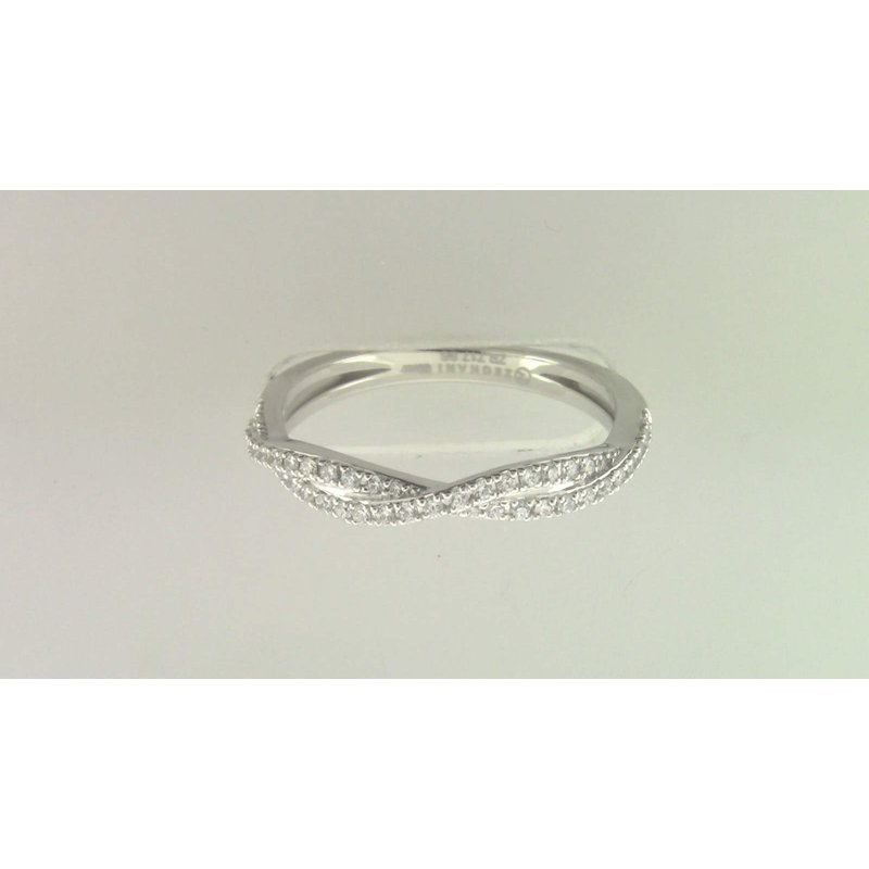 Zeghani Ladies' 14k White Gold Diamond Band