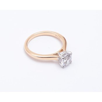 14k White And Yellow Gold Cubic Zirconia Semi Mount Ring