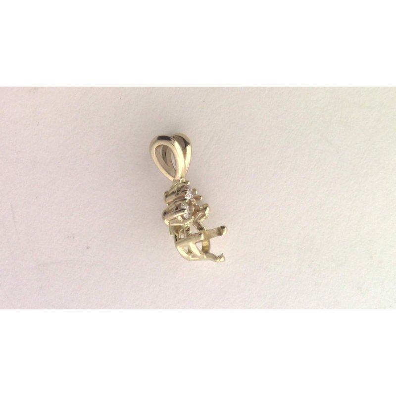 Pugh's Signature 14k Yellow Gold Diamond Pendant Mounting