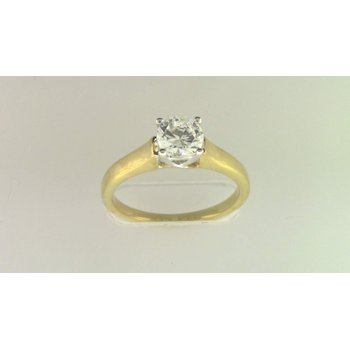 Ladies' 14k White Gold 6 Mm CZ Stone Diamond Semi Mount Ring