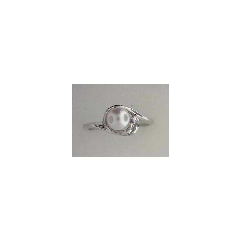 Pugh's Signature 14k White Gold Pearl Ring