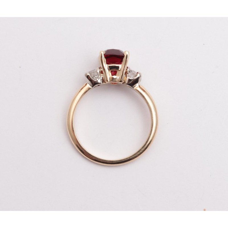 Pugh's Signature Ladies' 14k White And Yellow Gold Red Spinel Ring