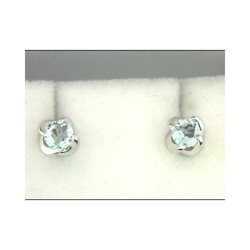 Ostbye 14k White Gold Aquamarine Earrings