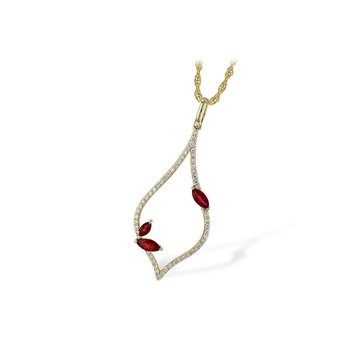 14k Yellow Gold Ruby Pendant