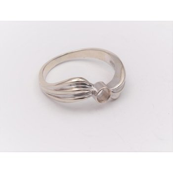 14k White Gold Ring Mounting