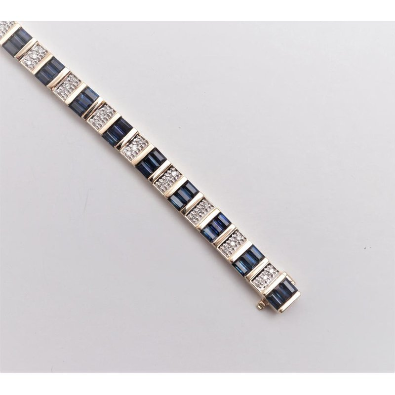 Pugh's Signature 14k Yellow Gold Sapphire Bracelet
