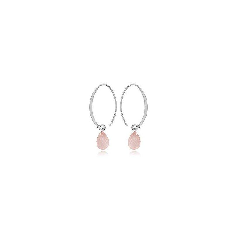 Pugh's Signature Sterling Rose Quartz Earrings