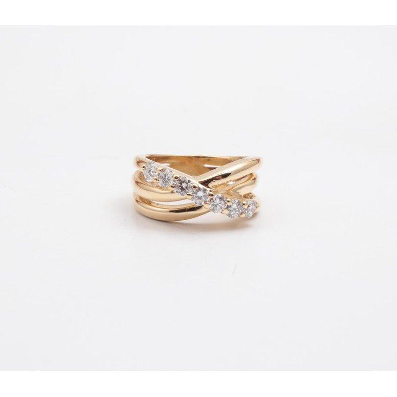 Pugh's Signature 18k Yellow Gold Diamond Ring