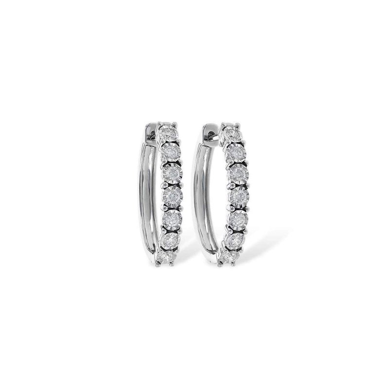 Allison-Kaufman 14k White Gold Diamond Earrings