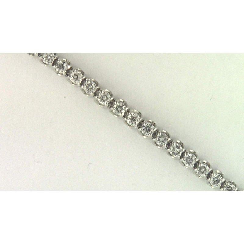 Pugh's Signature 14k White Gold Diamond Bracelet