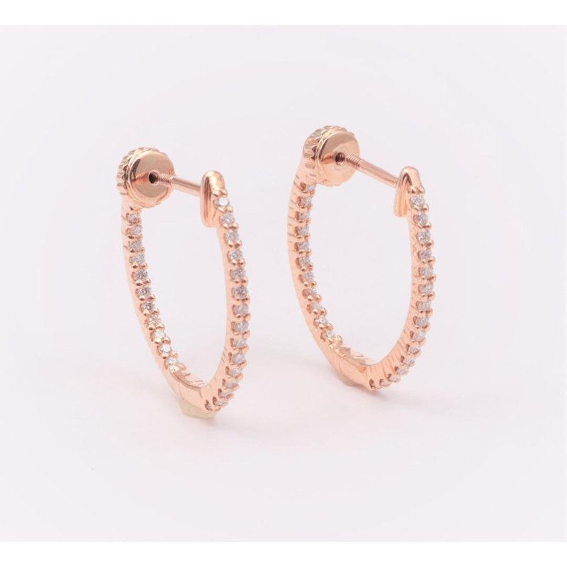 Allison-Kaufman 14k Rose Gold Diamond Earrings