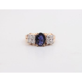 14k Yellow Gold Iolite Ring