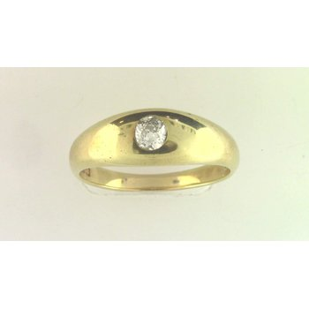 Gentlemans' 18k Yellow Gold Diamond Ring