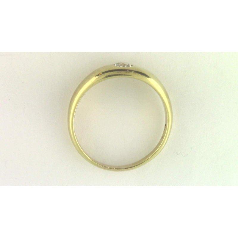 Pugh's Signature Gentlemans' 18k Yellow Gold Diamond Ring