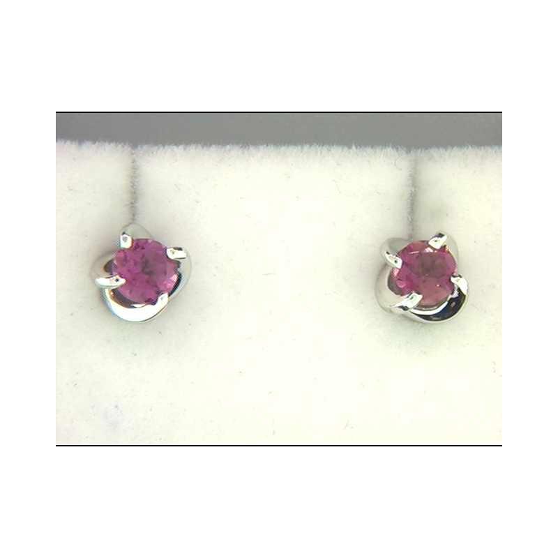 Ostbye Ladies' 14k White Gold Pink Tourmaline Earrings
