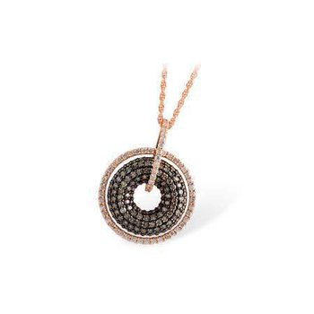 14k Rose Gold Brown Diamond Pendant