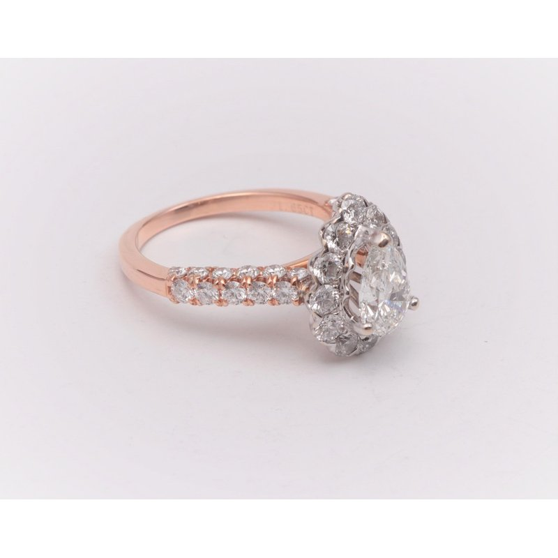 Pugh's Signature 14k White And Rose Gold Diamond Semi Mount Ring