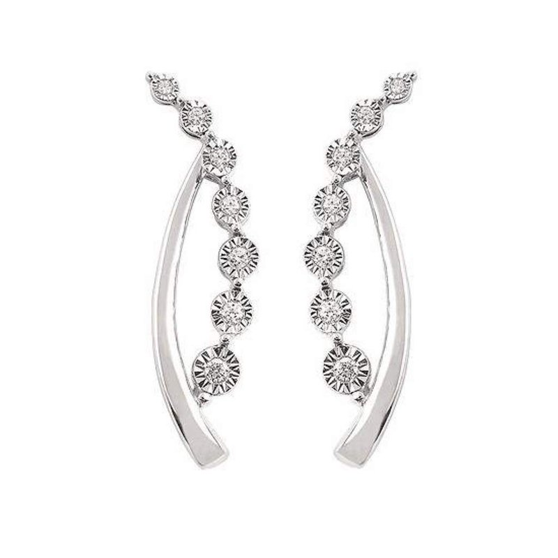 Ostbye 14k White Gold Diamond Earrings
